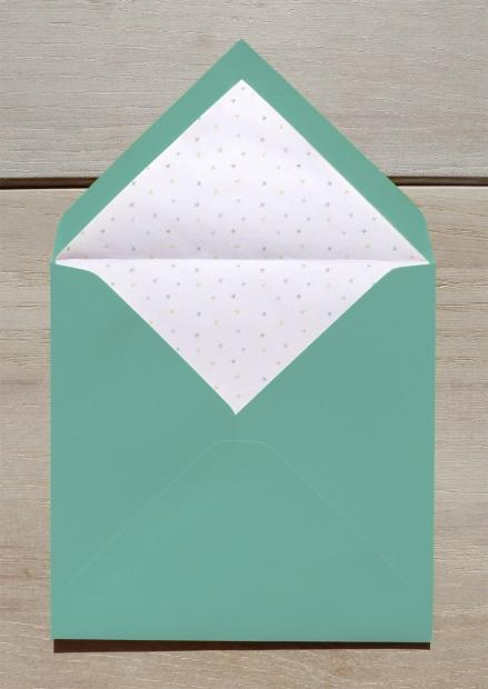 Faire-part confettis étoilés enveloppe