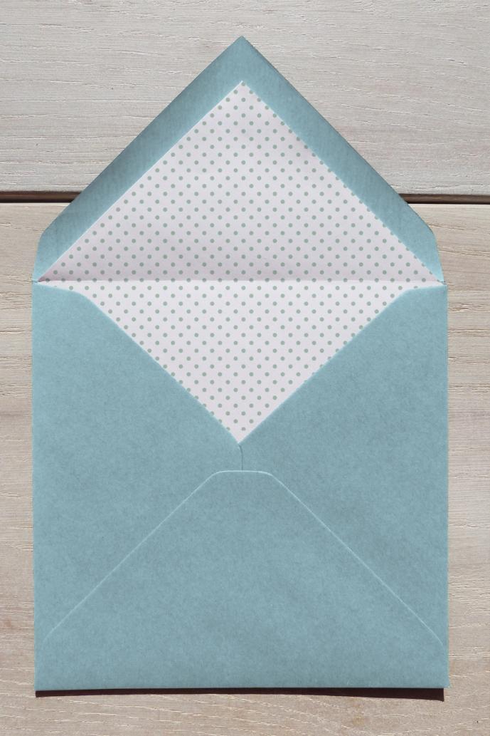 Faire-part Patchwork enveloppe